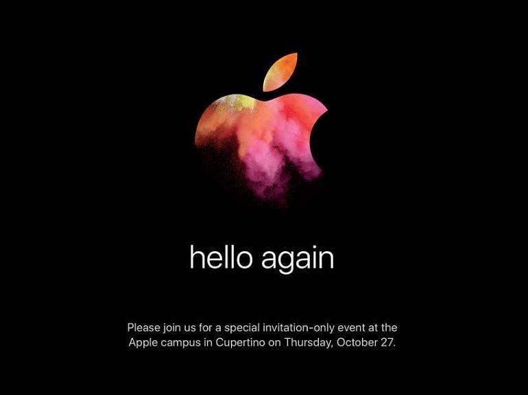 C'est officiel, Apple présentera ses nouveaux Mac le 27 octobre