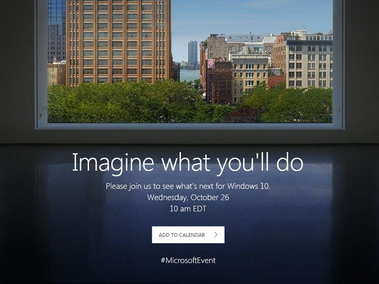 """Microsoft : un événement le 26 octobre pour Windows 10 et probalement la Surface """"Cardinal"""""""