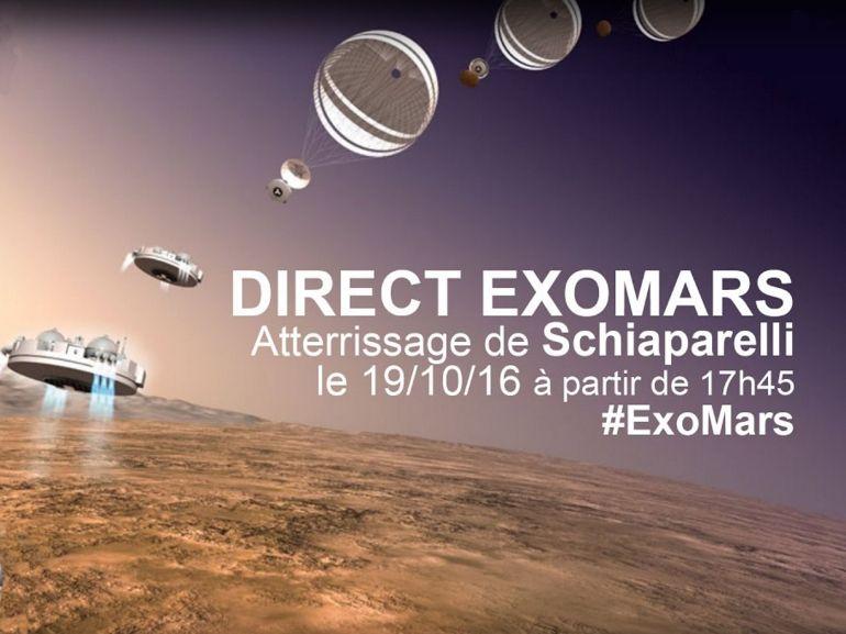 Suivez en direct l'atterrissage du module Schiaparelli sur Mars