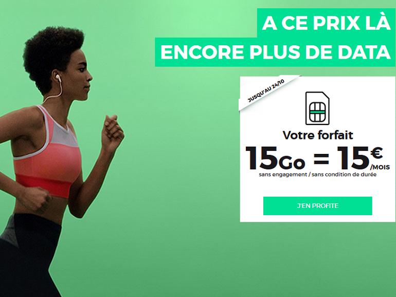 """Red by SFR : forfait illimité 15 Go à 15€/mois """"à vie"""""""