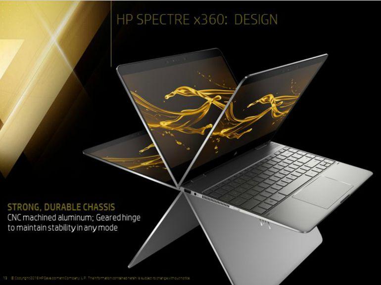 HP Spectre X360 (2017) : plus petit, fin et autonome, mais aussi moins cher