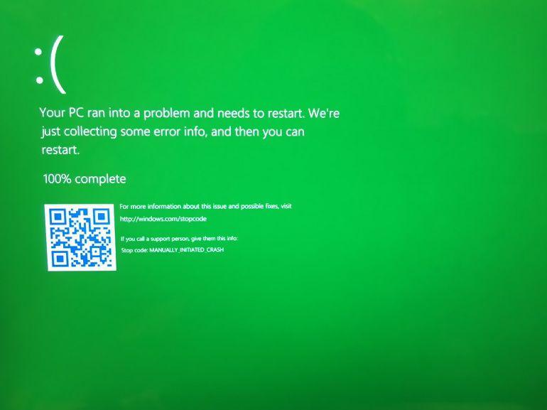 Windows 10 : des écrans verts de la mort en cas de plantage