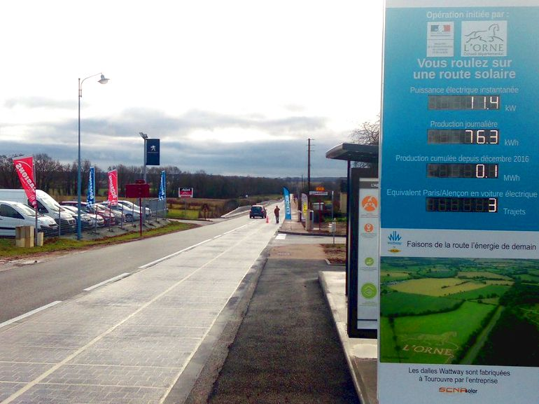 Énergies renouvelables: une route solaire inaugurée en Normandie