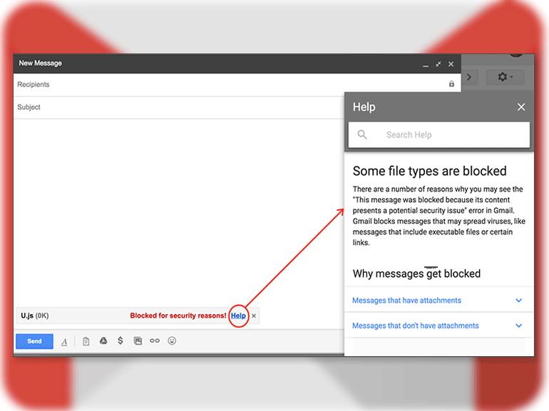 Gmail : les fichiers .js bannis pour lutter contre phishing et ransomware