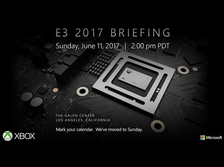 E3 2017 : Xbox Scorpio au menu de la conférence Microsoft