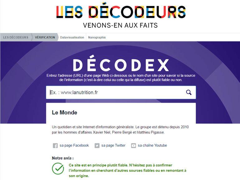 """Décodex : Le Monde lance un outil de lutte contre les """"fake news"""""""