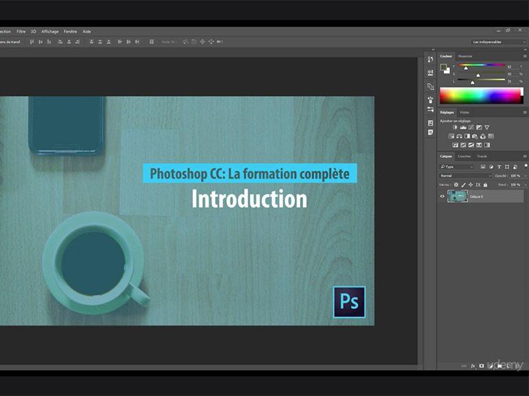 Formation en ligne pour débuter avec Photoshop CC à 15€ au lieu de 40€