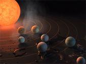 NASA : sur les 7 exoplanètes découvertes, 3 pourraient abriter de l'eau liquide