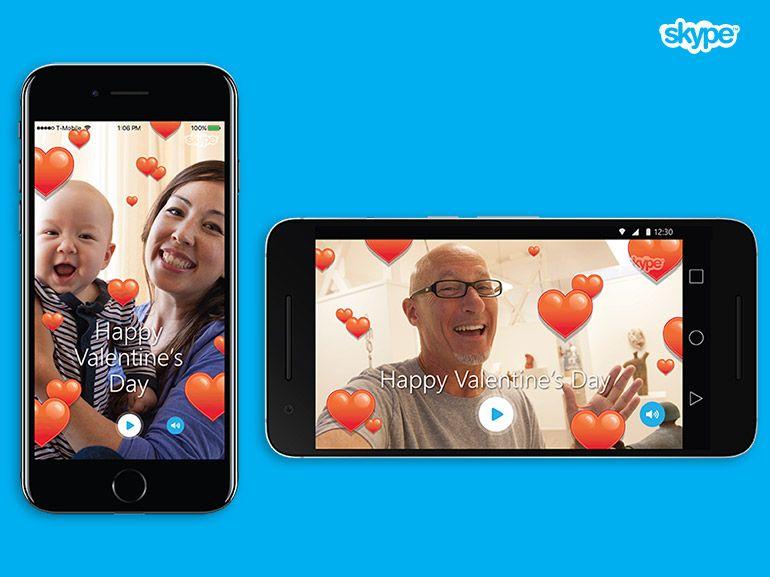 Skype : des émoticônes et des coeurs flottants pour la Saint Valentin