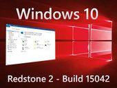 Windows 10 build 15042 : une version sans mention de build sur le bureau