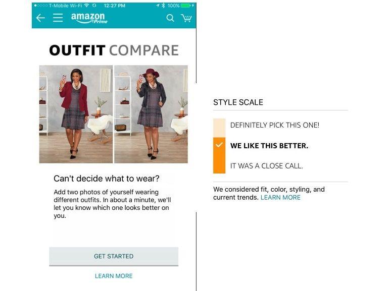 Avec Outfit Compare, Amazon entend vous conseiller pour mieux vous habiller