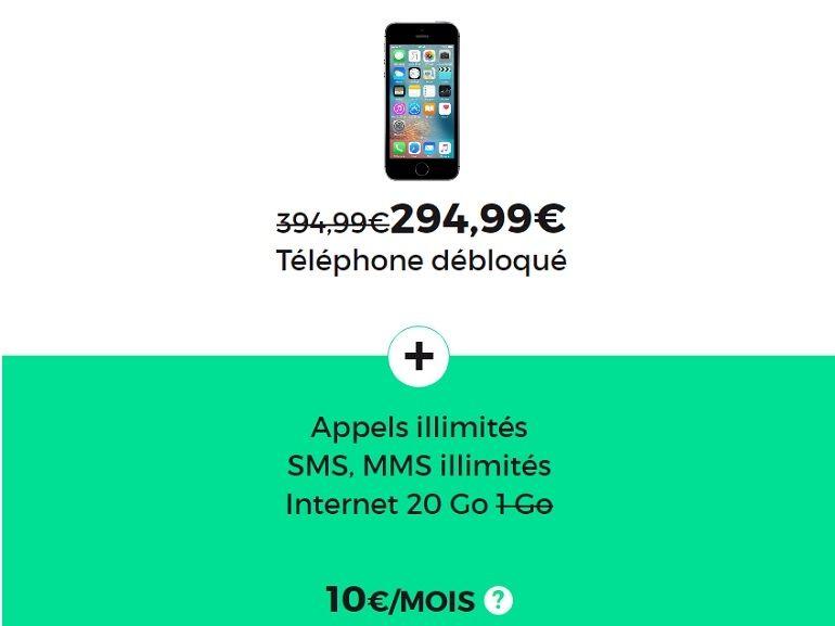 Bon plan : l'iPhone SE à partir de 295€ chez SFR / RED