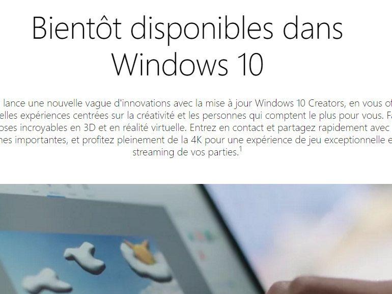 Windows 10 : la mise à jour de mars vous invite à tester la Creators Update
