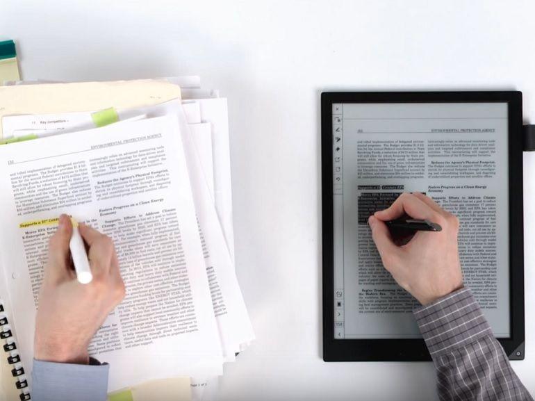 Sony DPT-RP1, la liseuse professionnelle qui remplace le papier