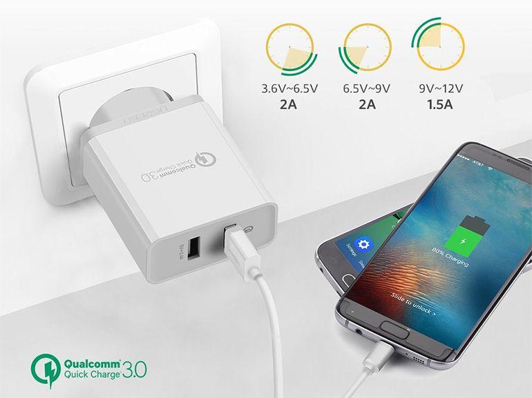 Bon plan : un chargeur rapide Quick charge USB 3.0 à 11€