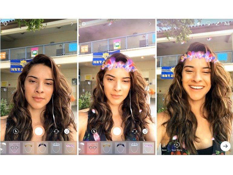 Avec les filtres de visages, Instagram pompe encore Snapchat