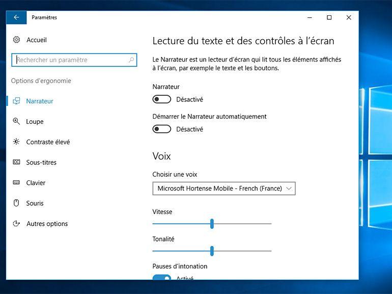 Windows 10 : des efforts sur l'accessibilité dans la Fall Creators Update
