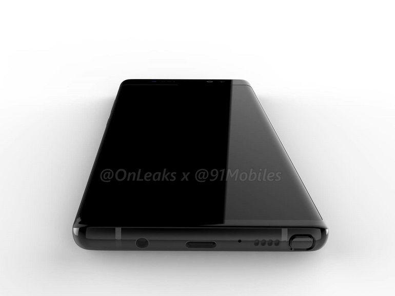 Samsung Galaxy Note 8 : des rendus 3D et une vidéo pour matérialiser son design