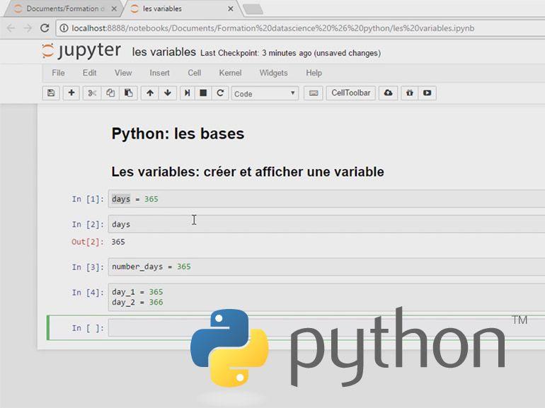 Formation pour apprendre Python pour la Datascience à 10€ au lieu de 195 €