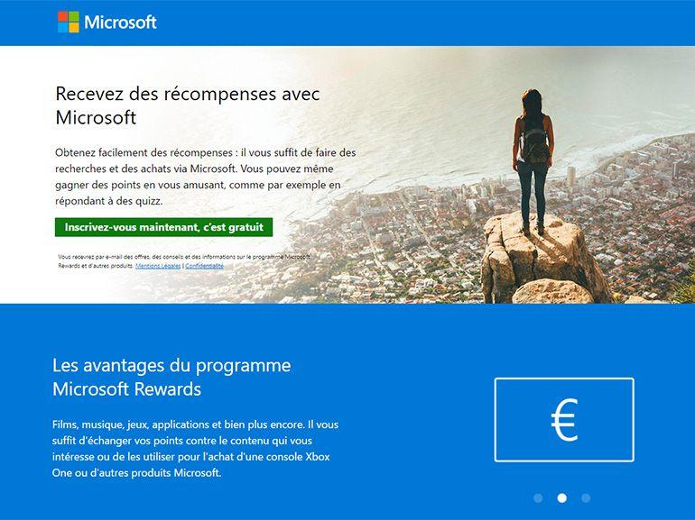 Le programme de fidélité Microsoft Rewards débarque en France