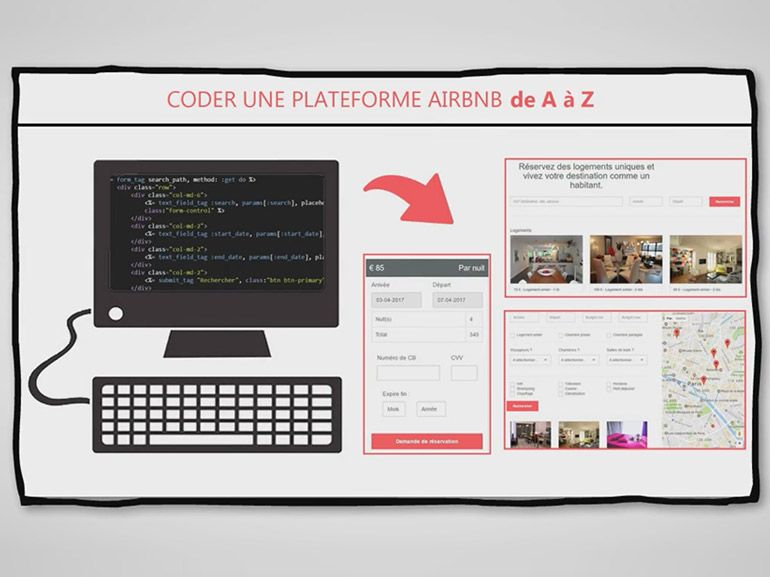 Formation Ruby on Rails : apprenez à coder un site de type Airbnb pour 10€