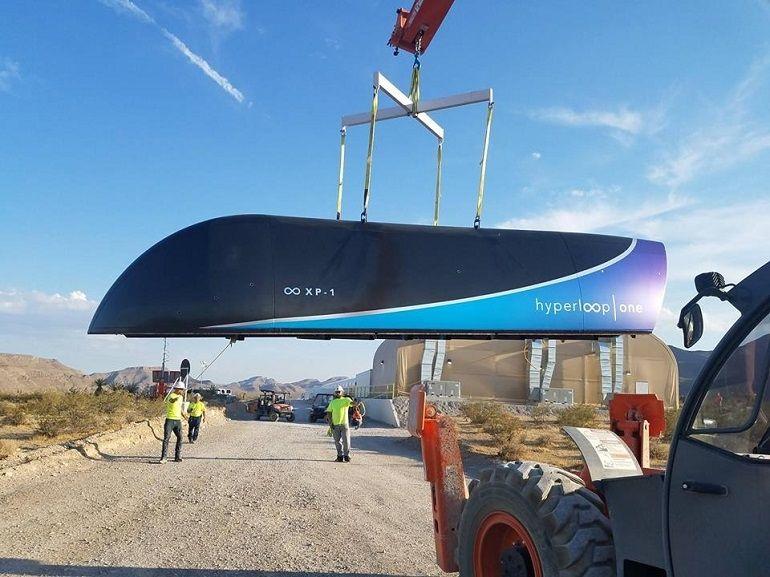 """Hyperloop One : le premier test du """"système complet"""" est concluant"""