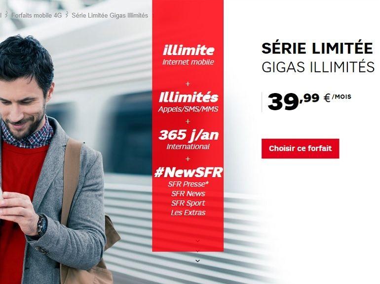 SFR lance un forfait 4G illimitée pour 39,99 euros par mois