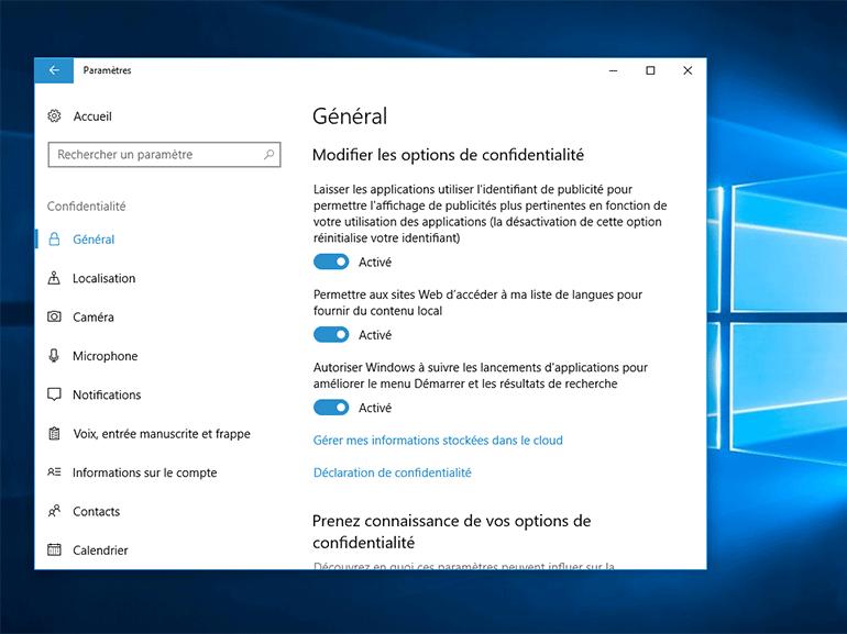 Windows 10 : de nouveaux contrôles sur la confidentialité arrivent