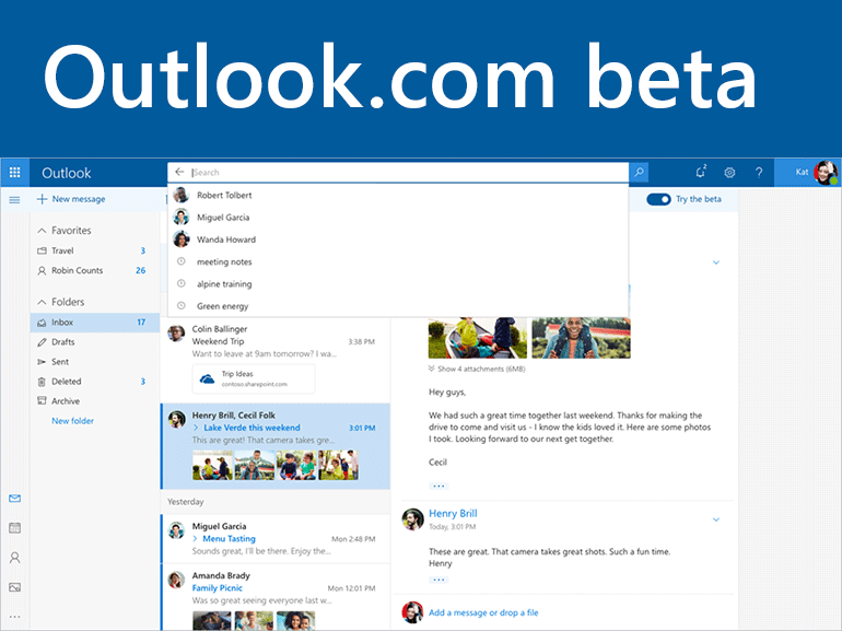 Outlook.com beta : Microsoft propose de tester son nouveau webmail