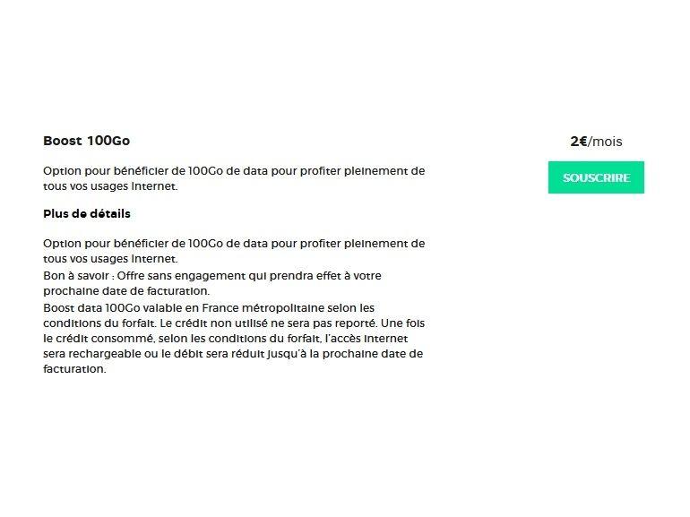 RED by SFR : 100 Go supplémentaires pour 2€ par mois