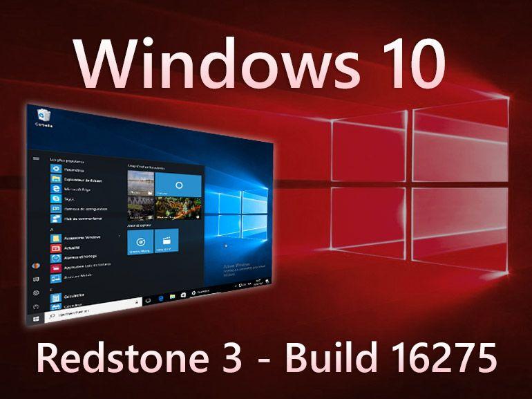 Windows 10 build 16275 : Microsoft stabilise le système en vue de la mise à jour