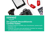 Amazon lance sa boutique de produits reconditionnés avec Renewed