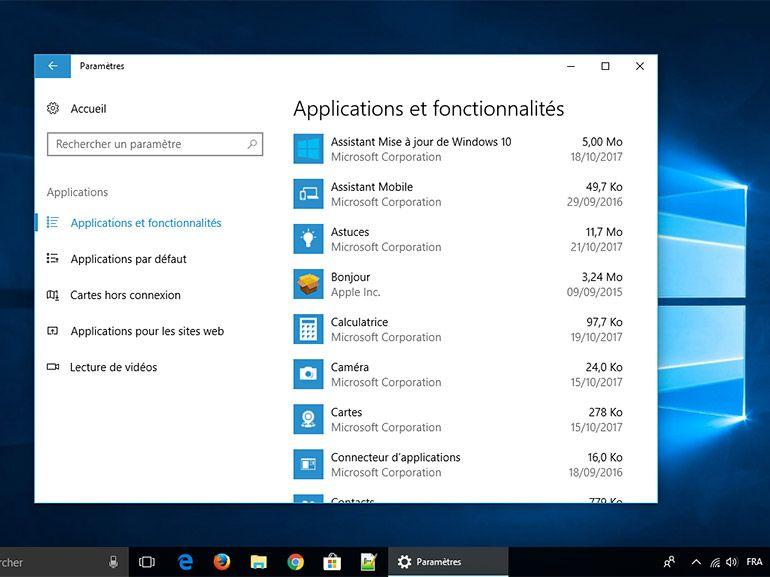 Windows 10 1709 : des solutions pour retrouver ses applications après la mise à jour