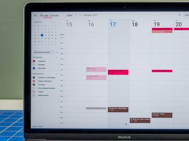 L'application web Google Agenda fait peau neuve