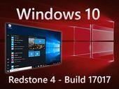 Windows 10 build 17017 : déjà des nouveautés dans la première version Redstone 4