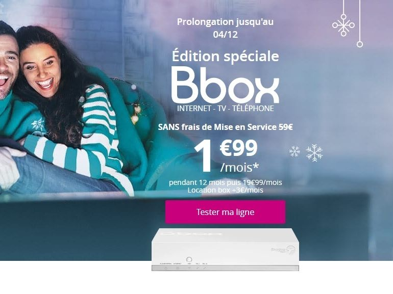 La Bbox ADSL + TV de Bouygues Telecom est à 5€ / mois au lieu de 20