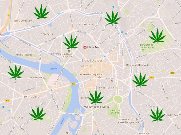 Marketing de la drogue : à Toulouse, on peut trouver de la weed avec Google Maps