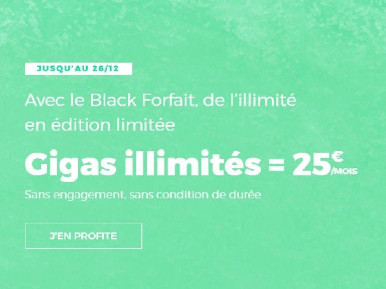 Le forfait RED by SFR avec de l'internet illimité à 25€ / mois prolongé jusqu'à Noel
