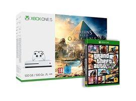 Black Friday : Xbox One S 500 Go avec AC : Origins et GTA V à 189€ chez Amazon