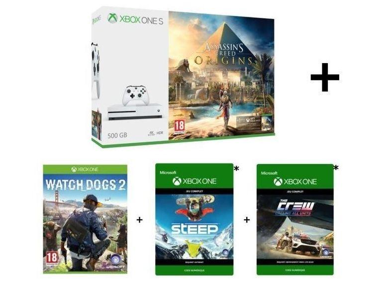 Black Friday : la Xbox One S, 500 Go + quatre jeux à seulement 189€ sur Cdiscount