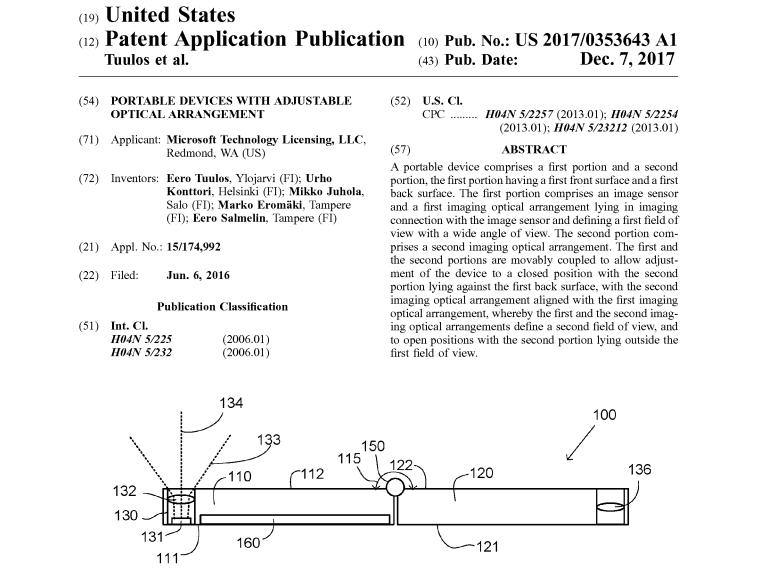 Un brevet Microsoft décrit un zoom optique dans un appareil à écran pliable