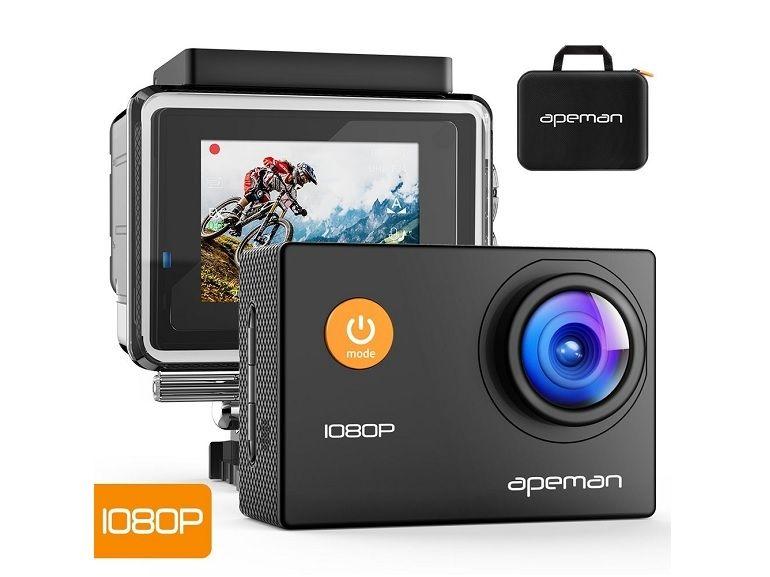 Bon plan : Action-Cam APEMAN 12 Mpx, Full HD 1080p, Grand-Angle + Kit d'accessoires à 32€ sur Amazon