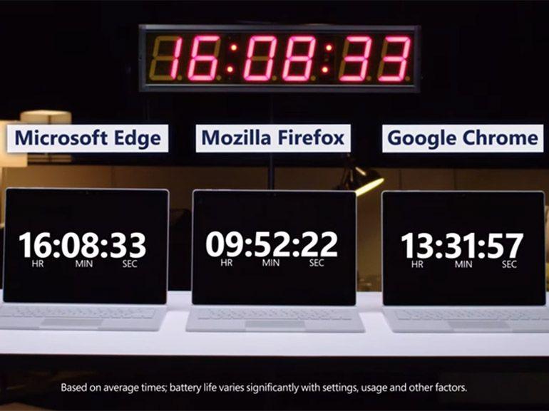 Le navigateur Edge toujours au top concernant l'autonomie, selon Microsoft
