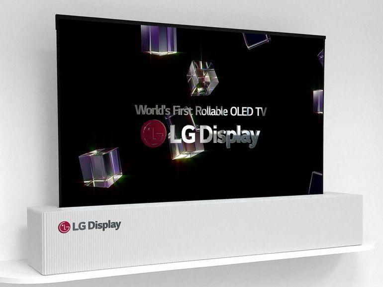 CES 2018 : LG montre un téléviseur Oled enroulable, une première