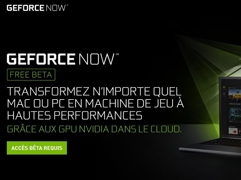 GeForce Now : la plateforme de cloud gaming arrive sur Android