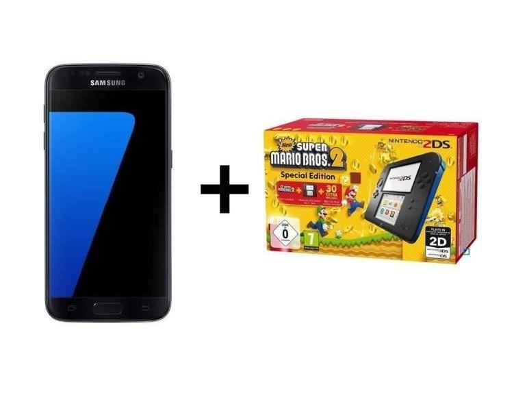 Soldes : le Pack Samsung Galaxy S7 Edge + Nintendo 2DS + Super Mario Bros 2 à 449€