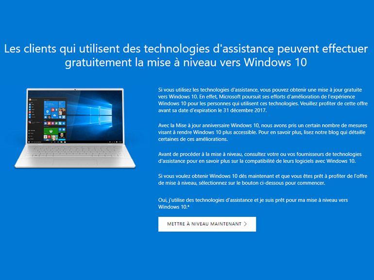 Windows 10 : la mise à niveau gratuite prolongée jusqu'au 16 janvier