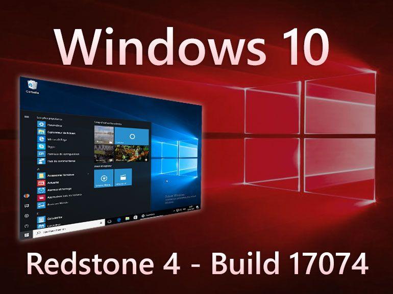 Windows 10 build 17074 : première Preview de l'année pleine de petits ajustements