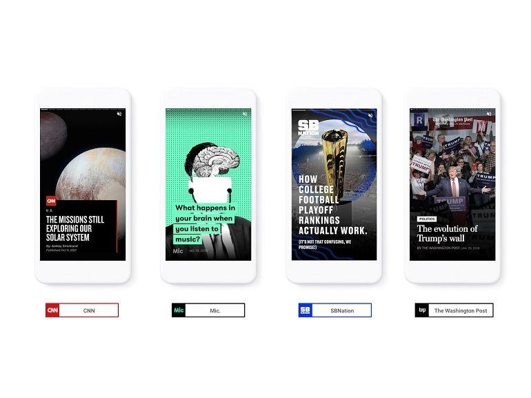Avec les AMP Stories, Google lance un nouveau format d'articles et clone Snapchat Discover