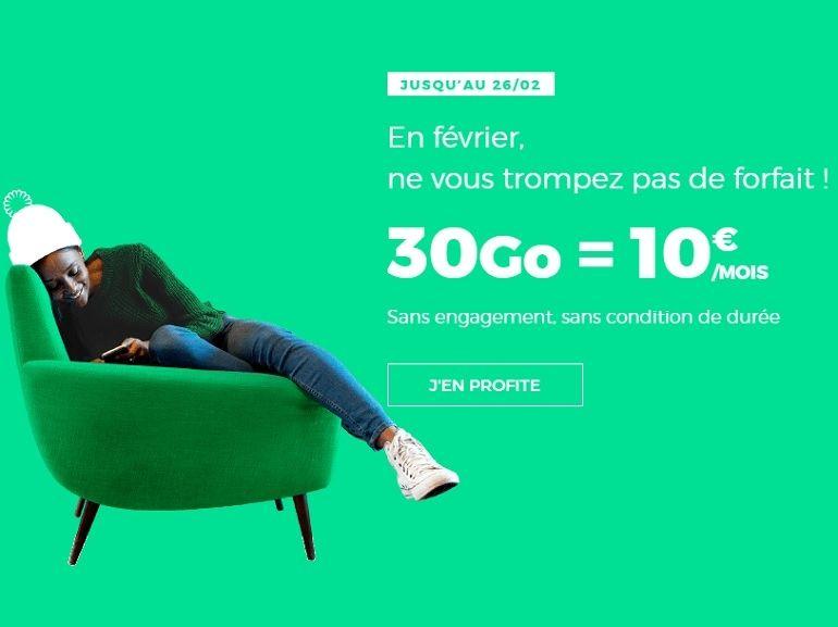 Derniers jours pour profiter du forfait RED by SFR 30 Go à 10 €